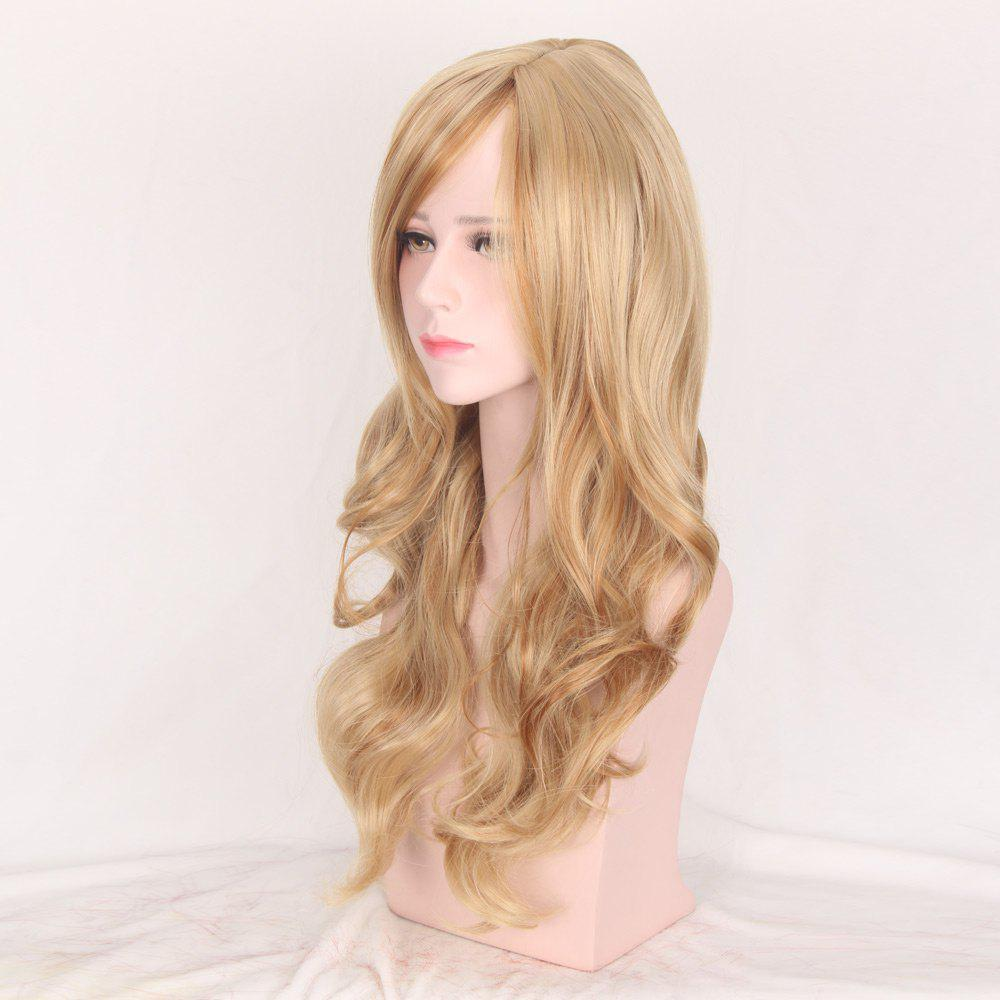 Colormix Side Bang Layered Long Wavy Party Synthetic WigHAIR<br><br>Color: BROWN AND GOLDEN; Type: Full Wigs; Cap Construction: Capless; Style: Wavy; Cap Size: Average; Material: Synthetic Hair; Bang Type: Side; Length: Long; Occasion: Daily; Length Size(CM): 60; Weight: 0.1800kg; Package Contents: 1 x Wig;