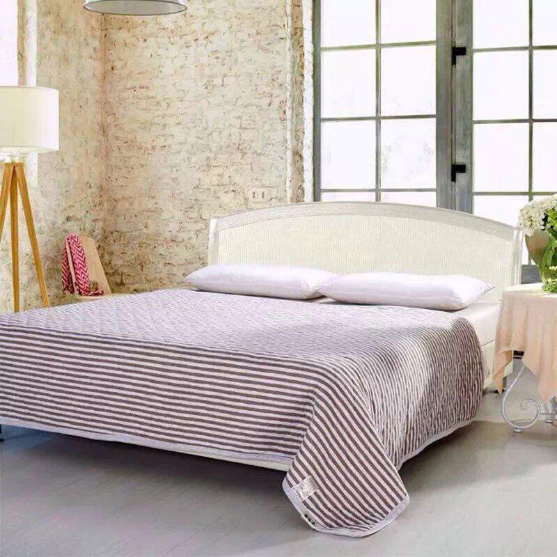 Buy 100 Percent Striped Long Stapled Cotton Blanket