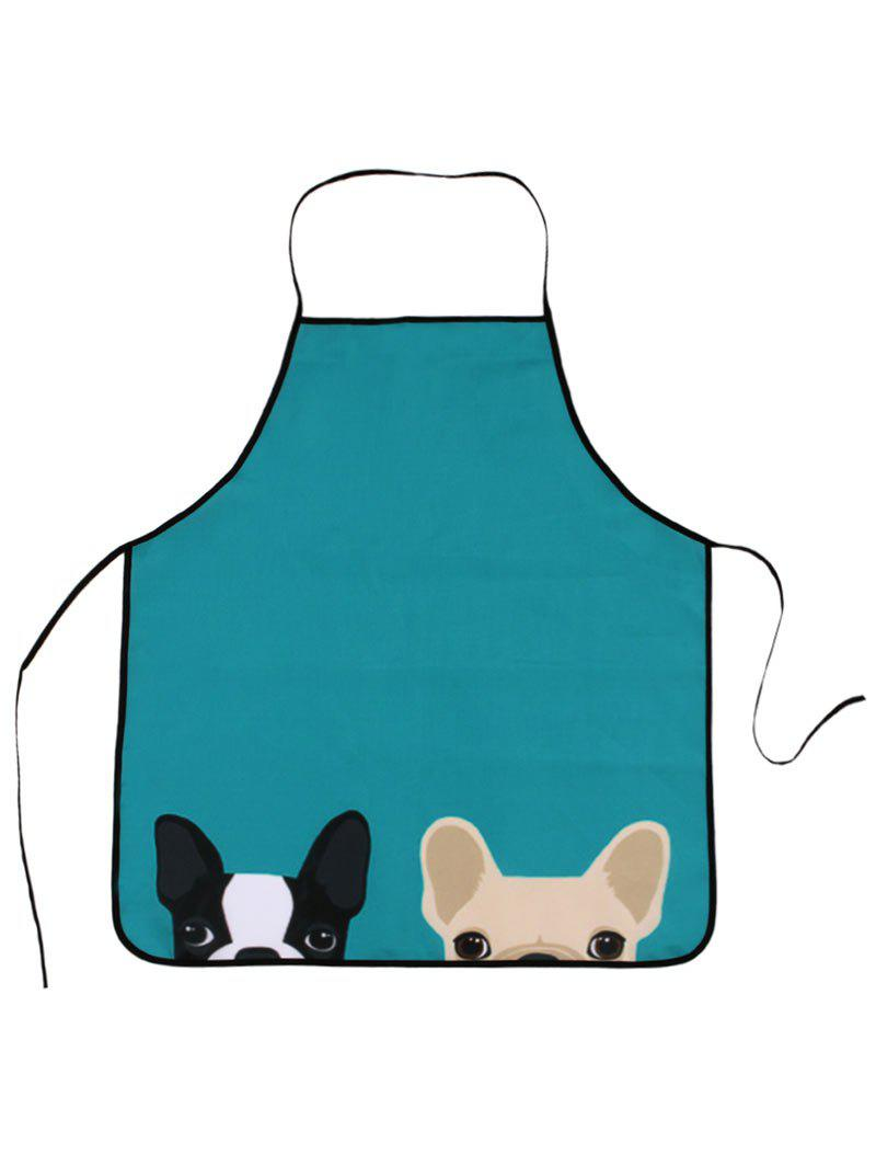 Pet Animal Household Water Resistant ApronHOME<br><br>Size: 80*70CM; Color: LAKE BLUE; Type: Apron; Material: Fabric; Features: Eco-friendly; Pattern Type: Animal; Weight: 0.0800kg; Package Contents: 1 x Apron;