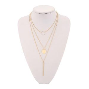 Three Layers Triangle Link Chain Necklace