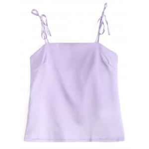 Satin Self Tie Tank Top