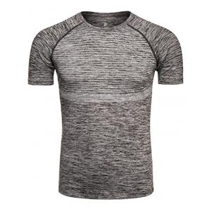 Polka Dot Print Crew Neck Quick Dry Training T-shirt