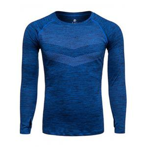 Long Sleeve Printed Quick Dry Training T-shirt
