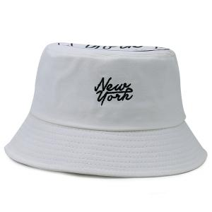 Icon Pattern Top Letters Printing Bucket Hat
