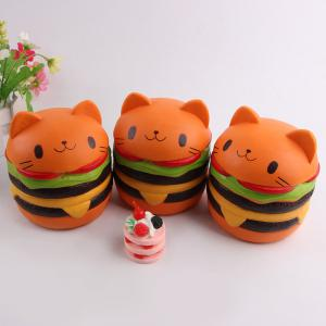 Décomposition Bande dessinée Cartoon Hamburger Squishy Charms Toy -