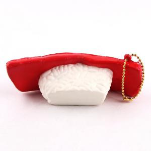 Simulated Food Fish Sushi Design Jouet squishy - Rouge