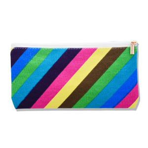 Rainbow Striped Makeup Bag -
