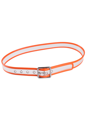 Outfit Pin Buckle Candy Color Brim Transparent Belt - ORANGE  Mobile