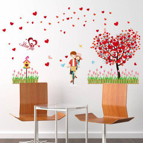 Outfit Tree Heart Lovers Removable Vinyl Wall Sticker - 60*90CM RED Mobile