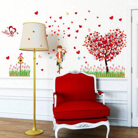 Shop Tree Heart Lovers Removable Vinyl Wall Sticker - 60*90CM RED Mobile
