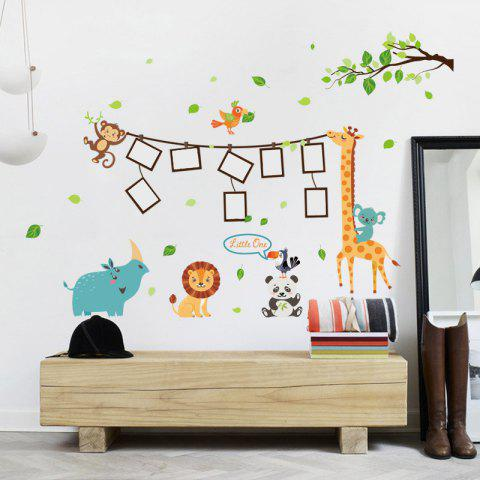 Outfit Photo Frame Cartoon Decorative Vinyl Wall Sticker - 60*90CM MULTI Mobile