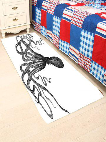 Chic Octopus Skidproof Coral Fleece Area Rug - W24 INCH * L71 INCH BLACK Mobile