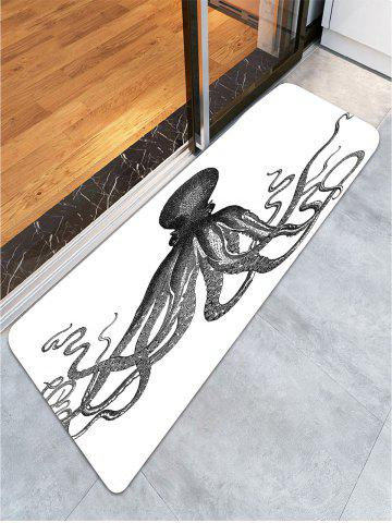 Discount Octopus Skidproof Coral Fleece Area Rug - W24 INCH * L71 INCH BLACK Mobile
