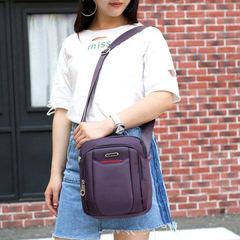Outfits Casual Nylon Zips Crossbody Bag - PURPLE  Mobile