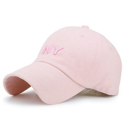 Fashion Letters Embroidered Sunscreen Baseball Hat PINK