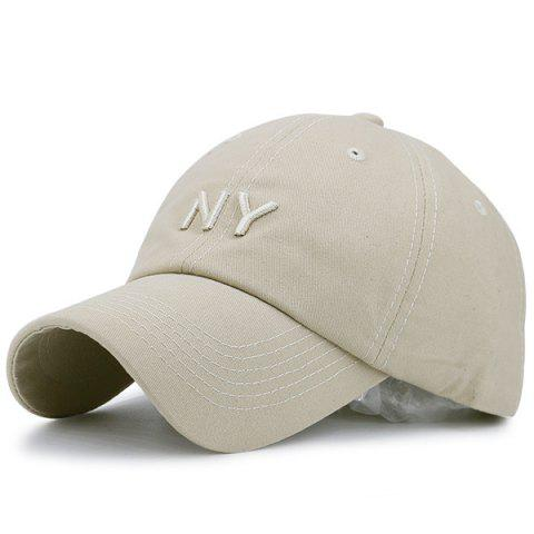 Cheap Letters Embroidered Sunscreen Baseball Hat KHAKI
