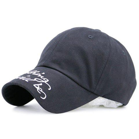 Outfit Curved Brim Letters Printed Baseball Hat