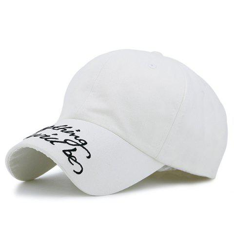 New Curved Brim Letters Printed Baseball Hat OFF WHITE
