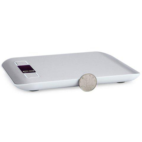 Unique 5KG/1G Kitchen Food Diet Stainless Steel Electronic Scale - 18*14*1.7CM(5KG/1G) SILVER Mobile