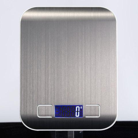 Buy 5KG/1G Kitchen Food Diet Stainless Steel Electronic Scale - 18*14*1.7CM(5KG/1G) SILVER Mobile