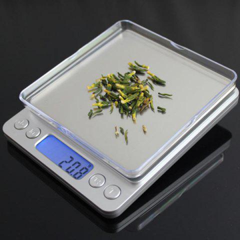 Buy Portable High Precision Weighting Food Electronic Scale - 12.7*10.6*1.9CM(500G/0.01G) SILVER Mobile