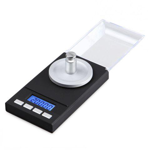 Shops Precision Pocket Jewelry Balance Mini Electronic Scale - 11.5*6.5*1.7CM(20G/0.001) BLACK Mobile