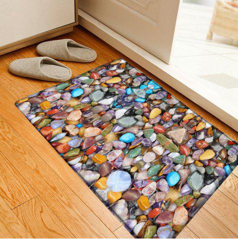 Affordable Sea Stone Pattern Indoor Outdoor Water Absorption Area Rug - W16 INCH * L24 INCH COLORMIX Mobile