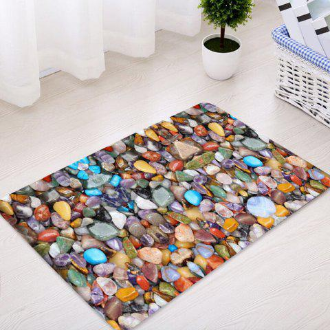 New Sea Stone Pattern Indoor Outdoor Water Absorption Area Rug - W16 INCH * L24 INCH COLORMIX Mobile