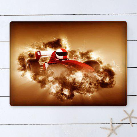 Outfit Car Racing Pattern Water Absorption Flannel Area Rug - W16 INCH * L24 INCH EARTHY Mobile