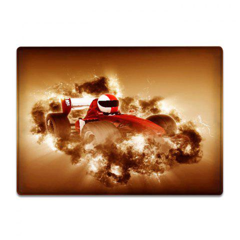 Affordable Car Racing Pattern Water Absorption Flannel Area Rug - W16 INCH * L24 INCH EARTHY Mobile