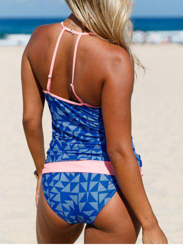 Hot Backless Strappy Plunging Neckline Tankini Set - S ROYAL Mobile