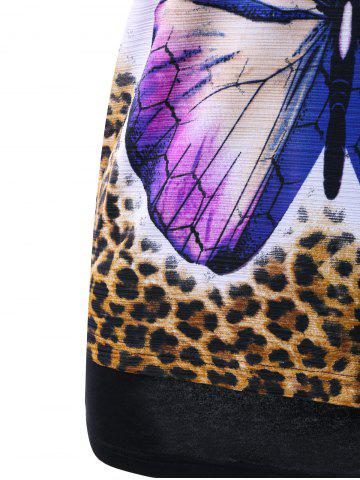 Fancy Butterfly Print Tee and Racerback Tank Top - M MULTICOLOR Mobile