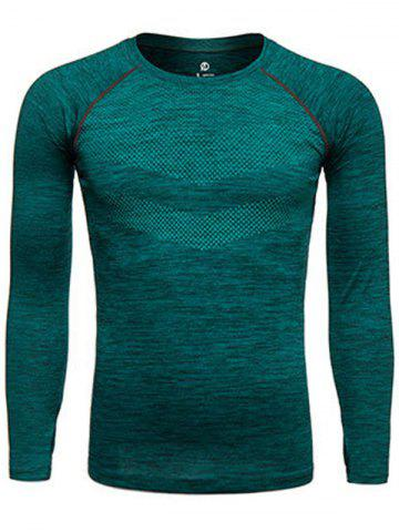 Shops Long Sleeve Printed Quick Dry Training T-shirt