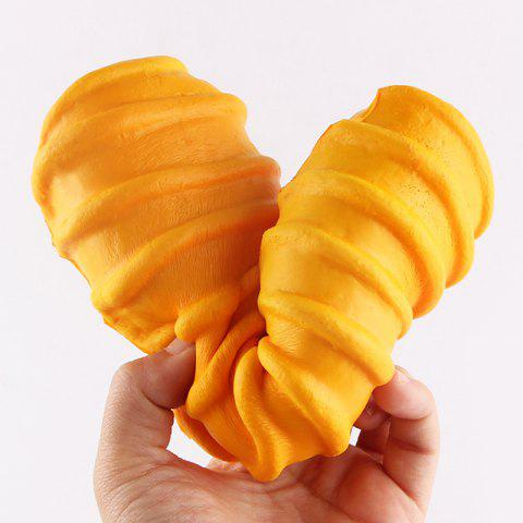 Store 1Pcs Caterpillar Bread Slow Rising Squishy Toy YELLOW