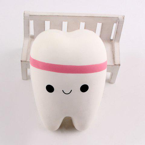 Online Anti Stress Cartoon Tooth Slow Rising Squishy Toy - WHITE  Mobile