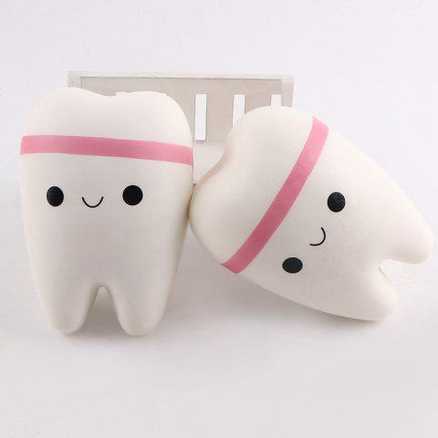 Affordable Anti Stress Cartoon Tooth Slow Rising Squishy Toy - WHITE  Mobile