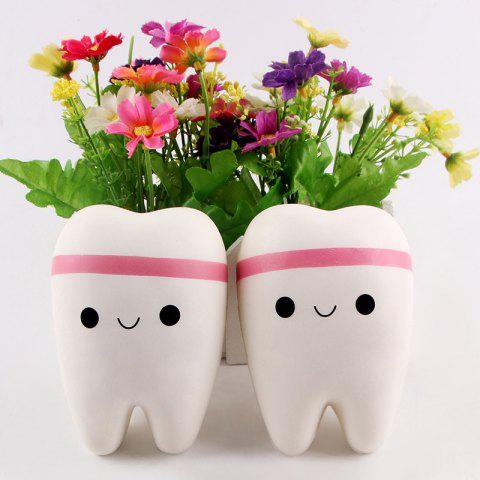 Latest Anti Stress Cartoon Tooth Slow Rising Squishy Toy - WHITE  Mobile