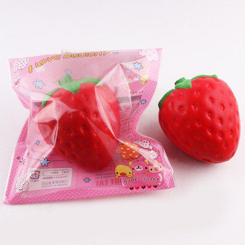 Affordable Decompression Strawberry Shape Squishy Toy - RED  Mobile