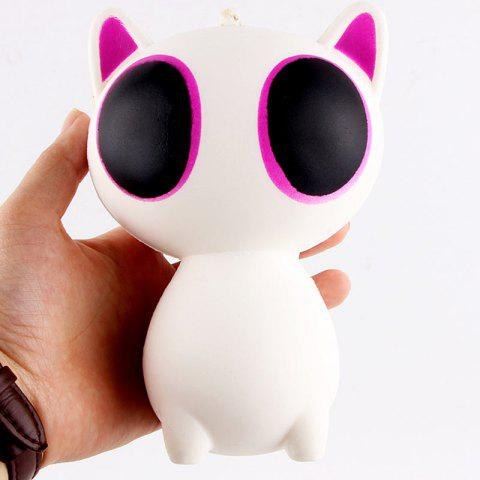 Anti Stress Cartoon Big Eyes Cat Squishy Toy - Purple