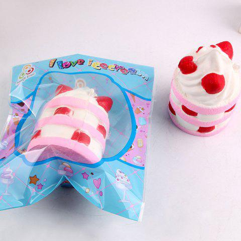 Online Decompression Simulation Ice Cream Squishy Toy - PINK  Mobile