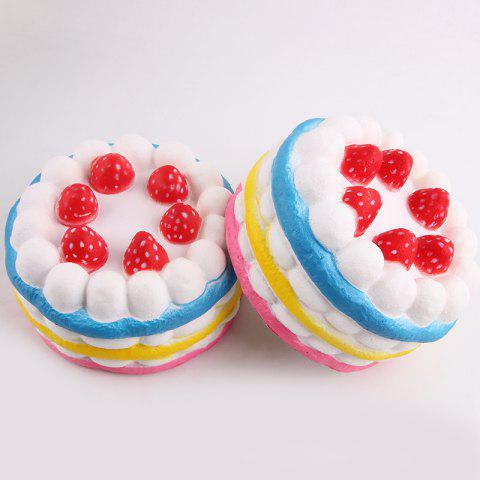 Latest 1Pcs Slow Rising Strawberry Cake Squeeze Squishy Toy - COLORFUL  Mobile