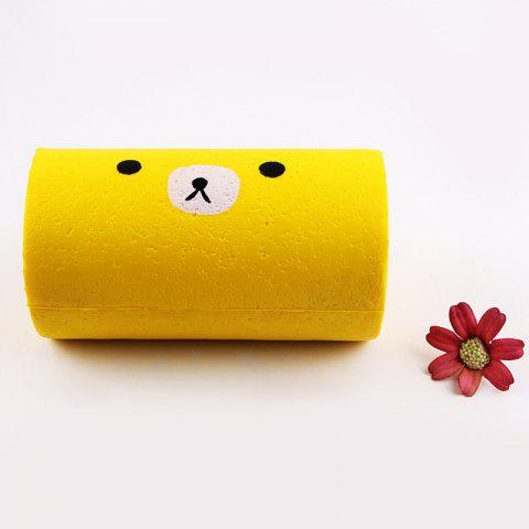 Outfits Soft Stress Relief Cake Roll Squishy Toy - YELLOW  Mobile