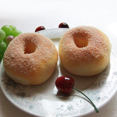 Outfit Squishy Toy Simulation Donut Bread PU Model - YELLOW  Mobile
