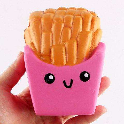 Fashion Chips Shape Soft Slow Rising Squishy Toy - PINK  Mobile