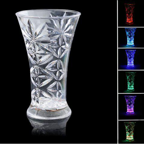 LED Luminous Inductive Rainbow couleur Flash Snowflake Cup
