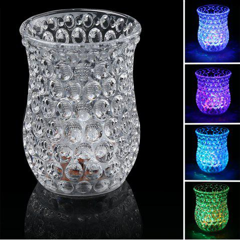 LED Flash Inductive Rainbow Color Changing Honeycomb Cup