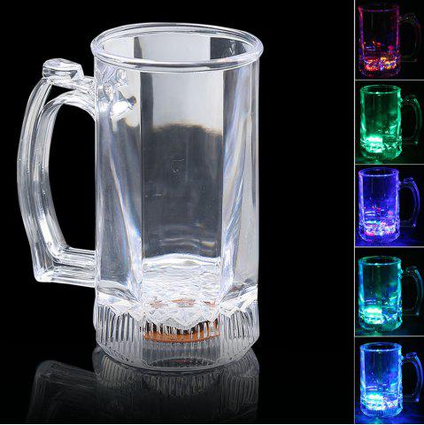 Inductive Rainbow Color Flash LED Luminous Large Beer Cup