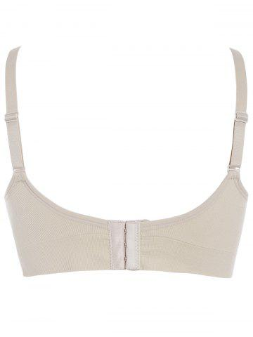 Fancy Wireless Breast Feeding Nursing Bra - LIGHT APRICOT M Mobile