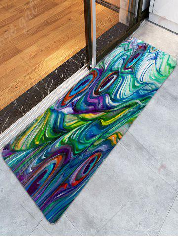 Sale Skidproof Coral Fleece Peacock Feather Bath Rug - W16 INCH * L47 INCH COLORFUL Mobile