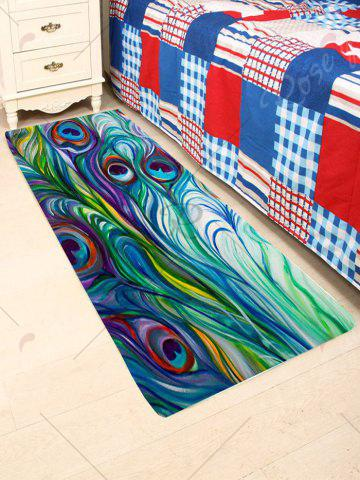 Shops Skidproof Coral Fleece Peacock Feather Bath Rug - W16 INCH * L47 INCH COLORFUL Mobile